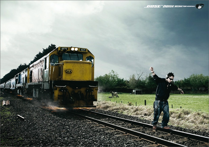 2006 Bose Noise Cancelling Headphones - Saatchi and Saachi Campaign ...